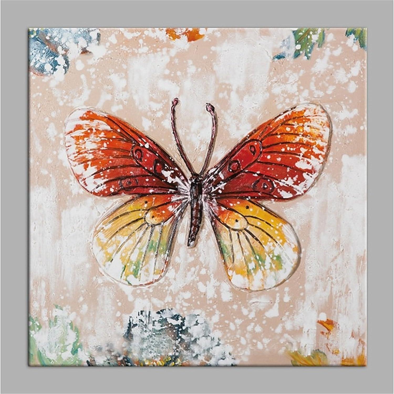 U0026Ouml;lgemu0026auml;lde Hand Malerei Kunst Leinwand Acrylfarbe Acrylfarbe  Acrylfarbe Schmetterling Holzrahmen Wohnzimmer Schlafzimmer Hintergrund  Wand Fertig ...