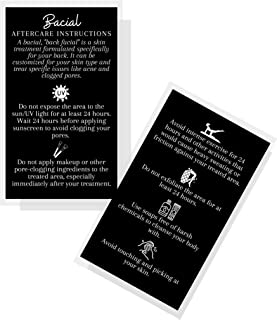 """Bacial Aftercare Instruction Cards 