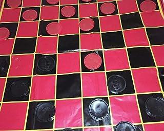 25 Piece Plastic Jumbo Checkers Game Set