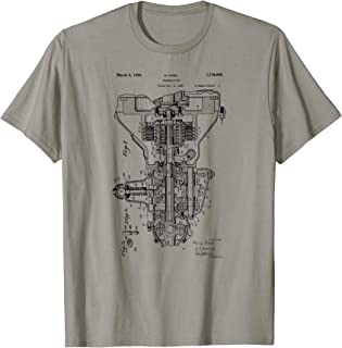 Vintage Patent Print 1930 Engine Transmission T-Shirt