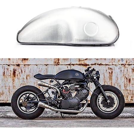 Tarazon 10l Universal Cafe Racer Motorrad Kraftstofftank Benzintank Tankdeckel Benzinhahn Für Yamaha Xjr 400 Auto