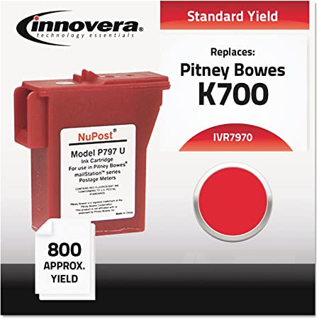 Innovera Compatible with 797-0 Postage Meter, 800 Page-Yield, Red