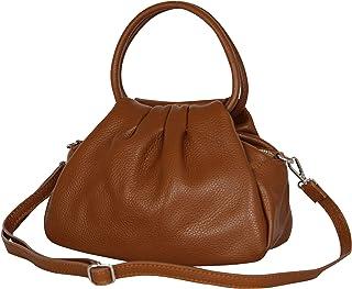 AmbraModa GLX13 - Borsa a mano borsa a spalla da donna in vera pelle