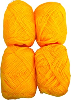 unique retail 3 PLY Knitting Wool Yarn_Pack 4_Haldi_Color