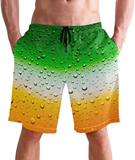 Beach Shorts, Funny Bear Pattern Printed Mens Trunks Swim Short Quick Dry with Pockets for Summer Surfing Boardshorts Outd...