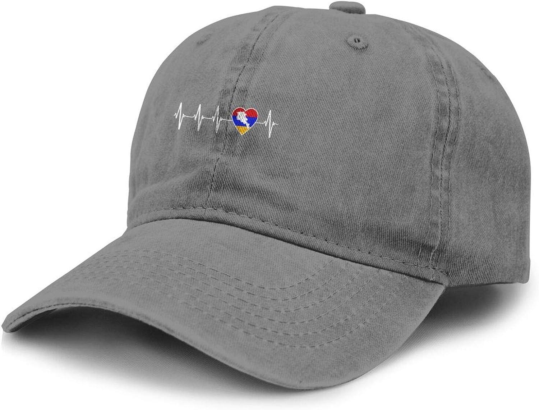 Armenian Heartbeat Adult Curved Brim Baseball Hat Sports Cowboy Cap