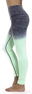 Prolific Health Fitness Power Flex Yoga Pants Leggings XS - XXXL (Large, Ombre Gray/Mint)