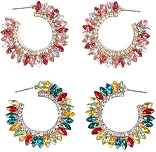 C-Shaped Sun Flower Stud Earrings,Personalized Hollow Vintage Female Earrings Jewelry Gift (2*Earrings)