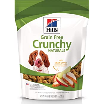 Hill's Grain Free Dog Treats Chicken & Apples, Healthy Dog Snacks, 8 oz Bag