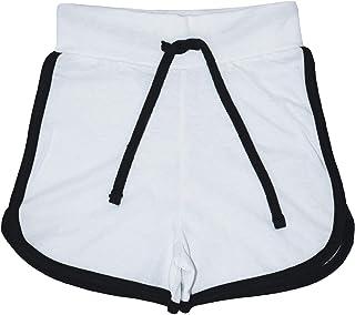 Kids Girls Shorts 100% Cotton Dance Gym Sports White Summer Hot Short Pant 2-13Y