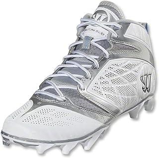 954bdf80e Warrior Men s Burn Speed 6.0 Mid Lacrosse Cleats - White silver