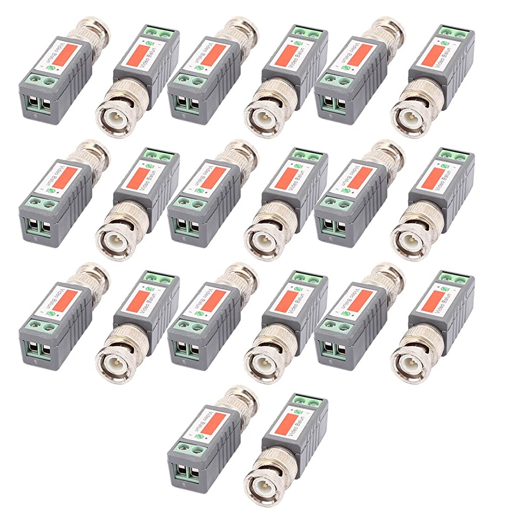uxcell 10 Pair 1 Channel Passive Transmitter HD Video Balun Transceiver BNC Adapter 2000 Ft Range