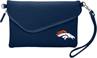 Littlearth NFL womens Nfl Soft Pebble Fold Over Purse - Large Wristlet - Includes Shoulder Strap