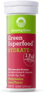 Amazing Grass Effervescent Tablets Watermelon Lime 10 Count