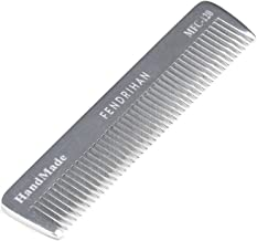 Fendrihan Sturdy Metal Fine Tooth Barber Pocket Grooming Comb (4.6 Inches)