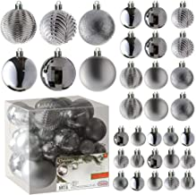 Christmas Bauble Set 120tlg Colour Silver//Anthracite Christmas Ornament New
