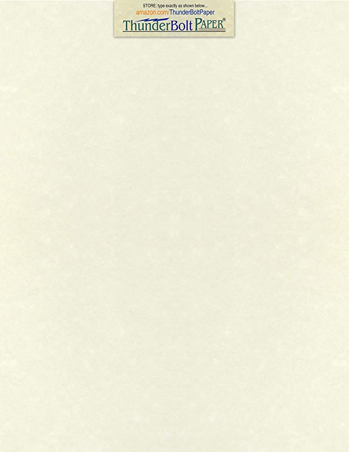 50 White Parchment 60lb Text Weight 8.5 X 11 Inches Stationery Paper Colored Sheets Letter Size - 60 Pound is Not Card Weight - Vintage Colored Old Parchment Semblance