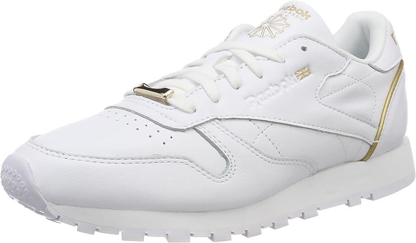 Reebok Cl LTHR Hw, Chaussures de Running Femme