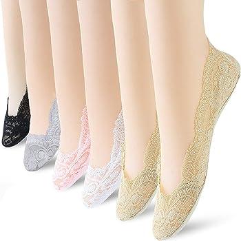 6 Pairs No Show Socks Lace Women No