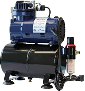 Paasche Airbrush D3000R 1/5 HP Compressor with Tank, Regulator and Moisture Trap