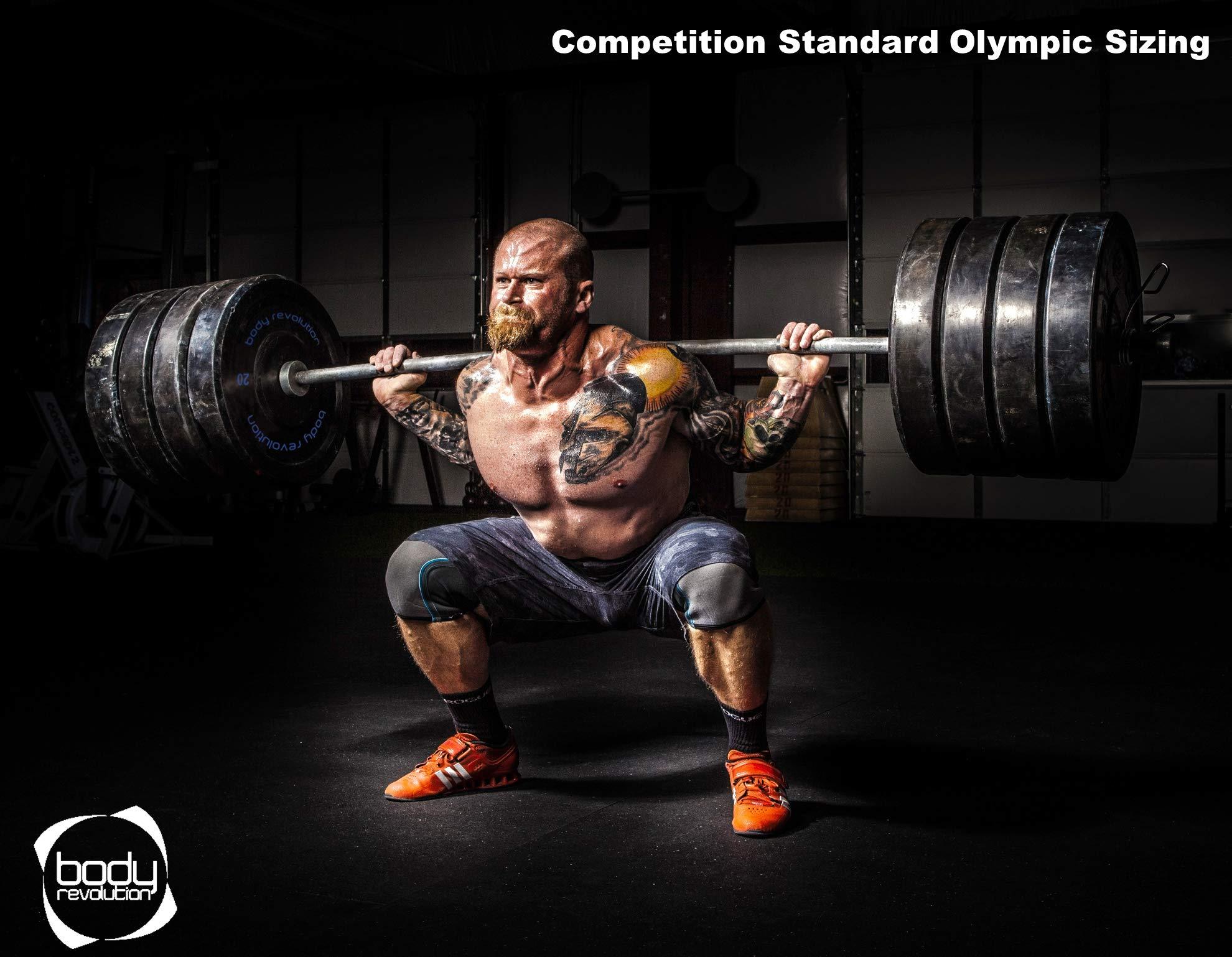 Body Revolution Goma Parachoques Placas Levantamiento Pesas Olímpico 2