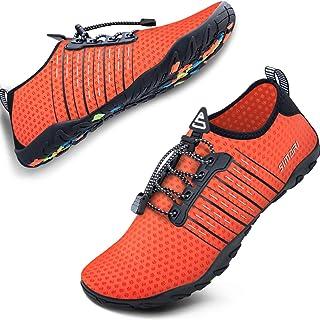 SIMARI Water Shoes for Mens Womens Sports Quick Dry Barefoot Diving Swim Surf Aqua Walking Beach Yoga 221 Orange