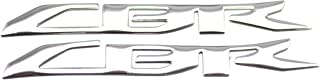Moco Fairing Motorcycle 3D Emblem Stickers Chrome Decal for Honda CBR1000RR - 1 Pair (16x2 cm)