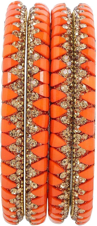 Efulgenz Indian Bangle Set Bollywood Style Rhinestone Crystal Bracelet Jewelry Set for Women Girls