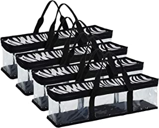Fasmov Set of 4 CD Storage Bags Hold up to 192 CD's (48 Each Bag)