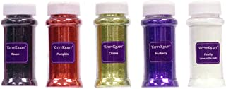 KittyKraft 5 Piece Extra Fine Glitter Set (Spooky Collection)- Includes Black, Orange, Purple, Chartreuse Green and Glow-in-The-Dark Glitter - Perfect for Crafts and Slime