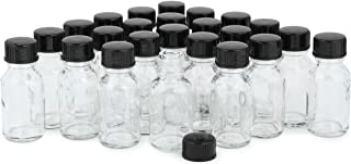 Vivaplex, 24, Clear, 15 ml Glass Bottles, with Lids