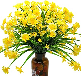 Grunyia Artificial Daisy Flowers (Pack of 4) (Yellow)