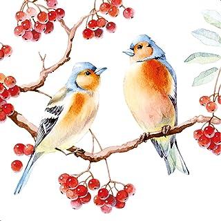 Herbstportrait Herbst Vögel Wald Tiere braun herbstlich 20 Servietten Portrait