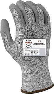 Armor Guys 02-008 (L) 1 Excel, 13 g, Basetek Liner, Polyurethane Palm Coating (One Pair), L, Gray