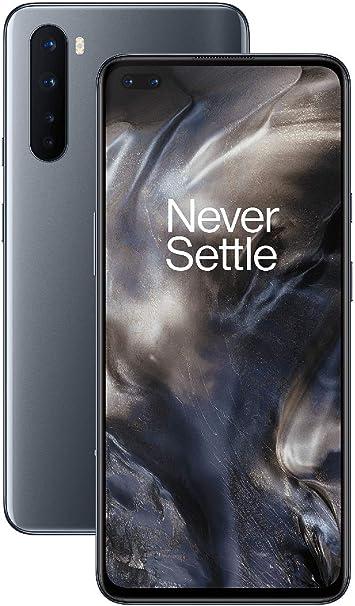 "-OnePlus NORD Smartphone Onyx Grey   6.44"" Fluid AMOLED Display 90Hz  8GB RAM + 128GB Opslag   Quad Camera  Warp Charge 30T   Dual Sim   5G-aanbieding"
