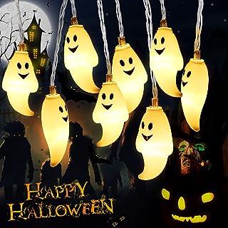 Guirlandes Lumineuse d'Halloween Ghost, 4.5M 30 LED Guirlande Lumineuse,Lumère fantôme Guirlande effrayante,Alimentées par...