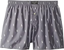 All Over Pony Print Woven Boxer