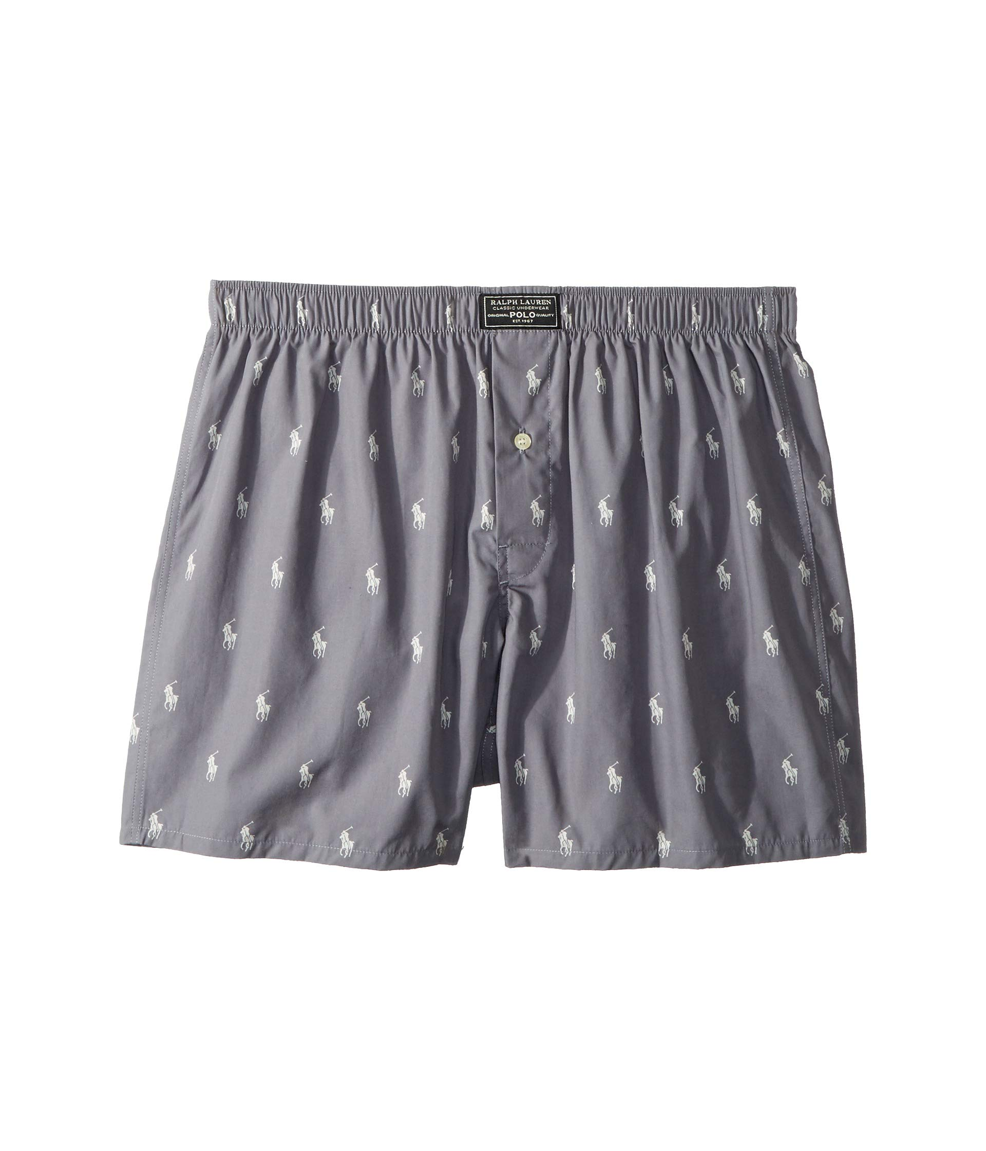 Pony Boxer nevis Woven Marine Grey All Lauren Print Over Polo Ralph vB7qII