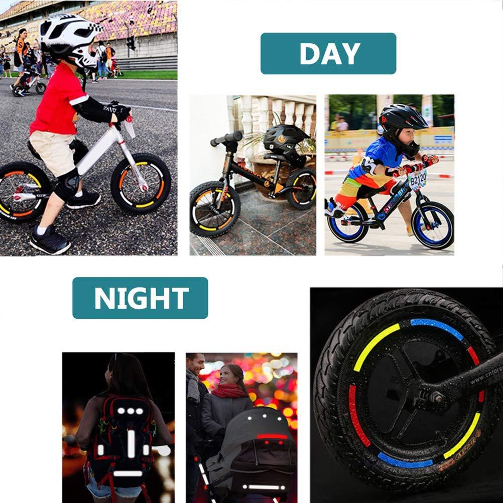 Suszian Pegatinas Reflectantes para Bicicleta, 42 Piezas Pegatinas ...