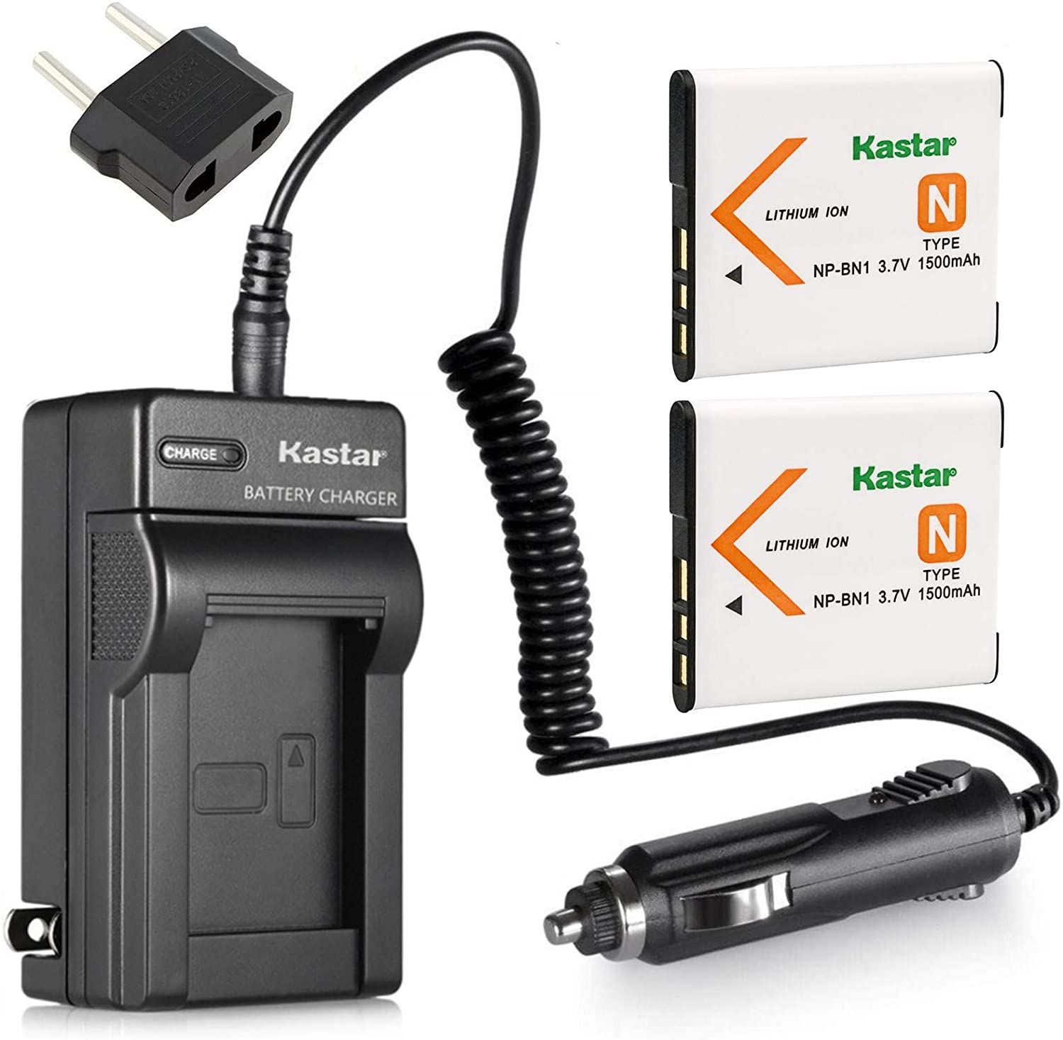 Kastar Award Battery 2-Pack and Charger NP-BN1 for Kit BC-CSN work Free shipping