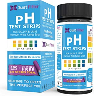 pH Test Strips for Testing Alkaline and Acid Levels in The Body. Track & Monitor Your pH Level Using Saliva and Urine. Get...