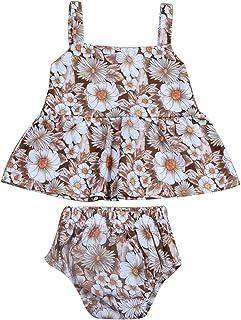Princesa bebé sin Mangas de la Camiseta del Chaleco Tank Tops + Shorts Floral Ropa de Verano 2pcs / Set