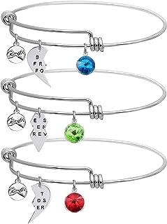 LINKY Set of 3 Best Friends Forever Bangle Bracelet
