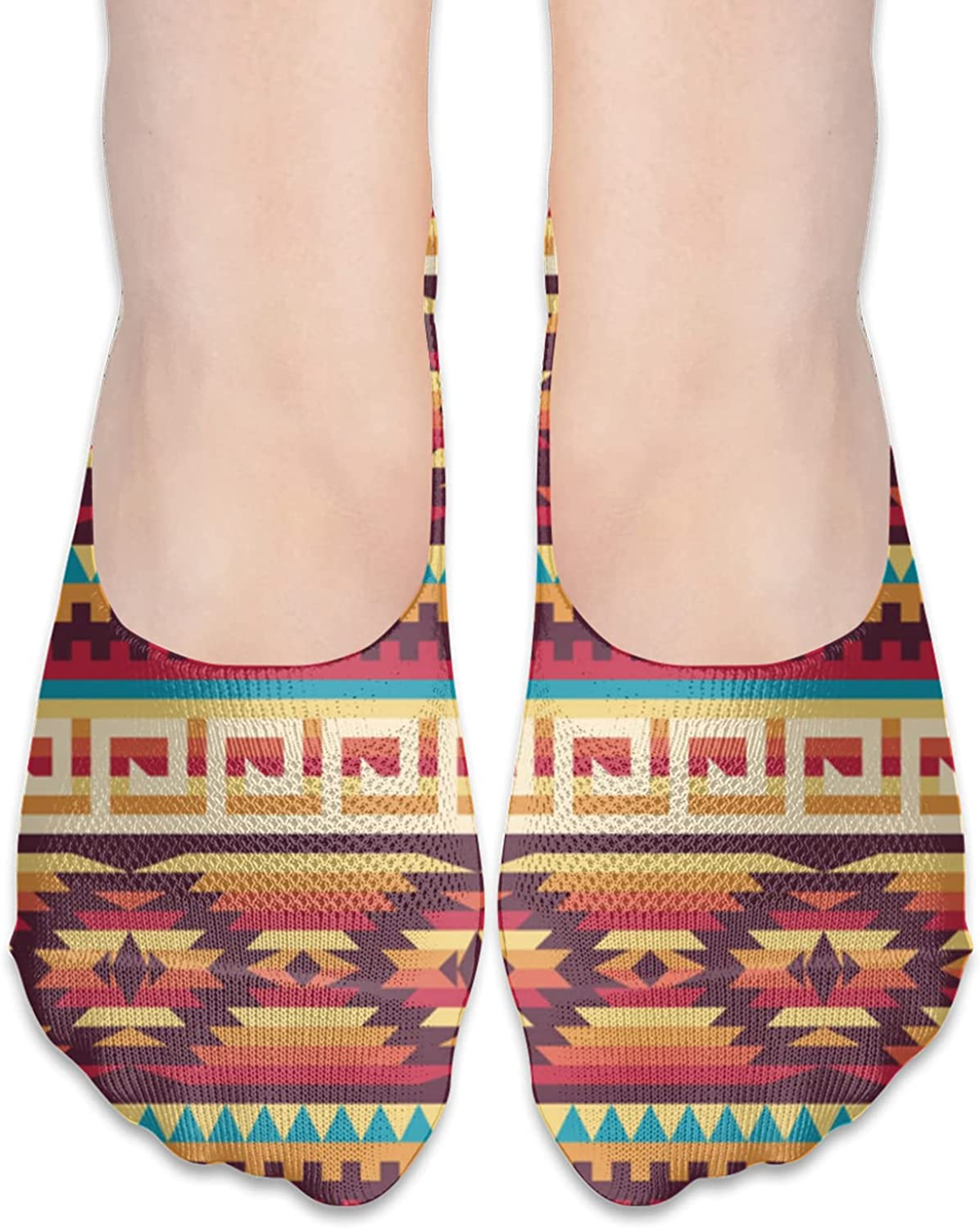 Native American Unisex Adult Breathable Liner Socks Non Slip No Show Ankle Socks Low Cut Invisible Socks