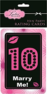 Rimi Hanger Womens Hen Night Party Dare Cards Ladies Night Out Party Games Card Accessory/ Hen Party Rating Card
