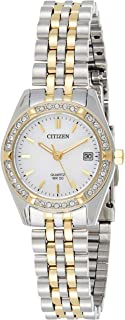 CITIZEN Women's Quartz Watch, Analog Display and Stainless Steel Strap EU6064-54D