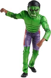 Marvel Hulk Costume for Boys, Size 3 Green