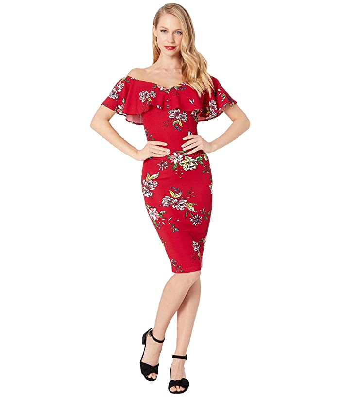 0550b22923 Unique Vintage Knit Draped Sophia Wiggle Dress at Zappos.com