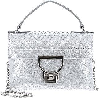 Coccinelle Mignon Python Lulula Top Handle Mini Bag Silver