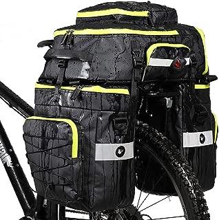 Rhinowalk Bike Bag Bike Pannier Bag Set,(for Bicycle Cargo Rack Saddle Bag Shoulder Bag Laptop Pannier Rack Bicycle Bag Professional Cycling Accessories 3 in 1)